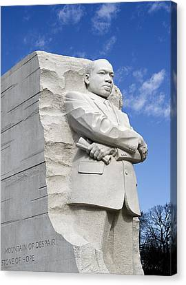 Martin Luther King Jr Memorial In Washington Dc Canvas Print by Brendan Reals