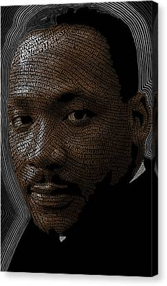 Martin Luther King Word Mosaic Canvas Print by Hans Fleurimont