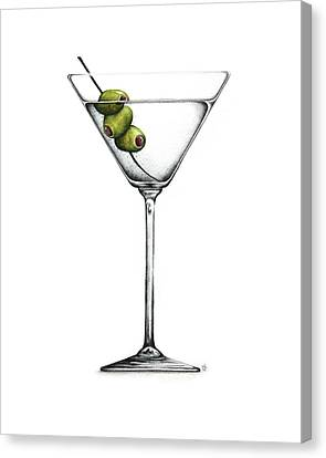 Martini Canvas Print by Christina Meeusen