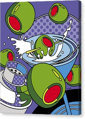 Martini Time Canvas Print by Ron Magnes