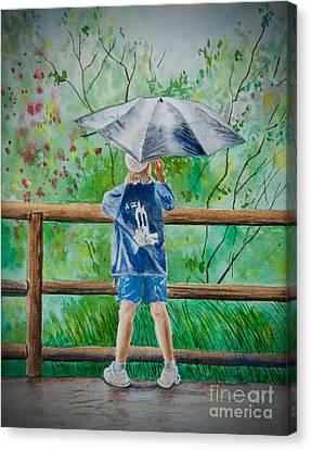 Marcus' Umbrella Canvas Print by AnnaJo Vahle