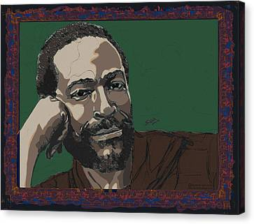 Marvin Gaye  Canvas Print by Suzanne Gee