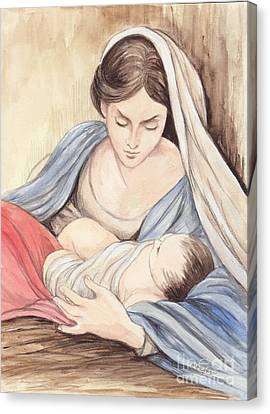 Mary And Child Canvas Print by Morgan Fitzsimons