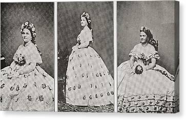 Mary Ann Lincoln, N Canvas Print by Vintage Design Pics