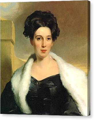 Mary Anne Heide Norris Canvas Print by Thomas Sully
