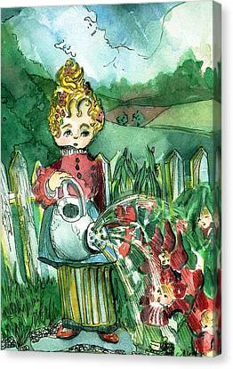 Mary Mary Quite Contrary Canvas Print by Mindy Newman