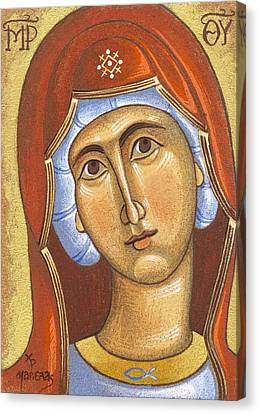 Mary Mother Of Jesus Canvas Print by Mariela Constantinidis