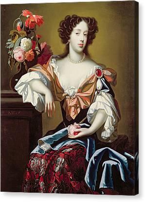 Mary Of Modena  Canvas Print by Simon Peeterz Verelst