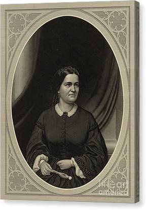 Mary Todd Lincoln, First Lady Canvas Print by Science Source