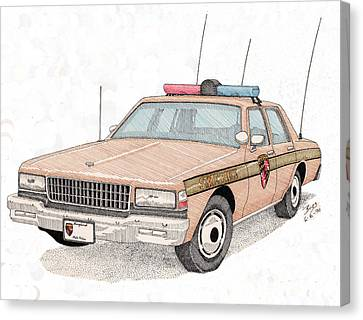 Maryland State Police Car Canvas Print by Calvert Koerber