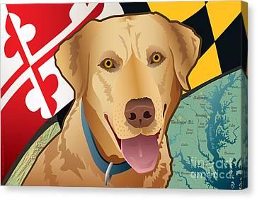 Maryland Yellow Lab Canvas Print by Joe Barsin