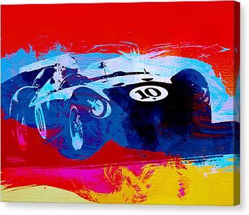 Maserati On The Race Track 1 Canvas Print by Naxart Studio