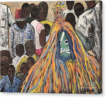 Mask Ceremony Burkina Faso Canvas Print by Reb Frost