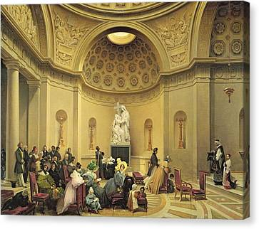 Mass In The Expiatory Chapel Canvas Print by Lancelot Theodore Turpin de Crisse