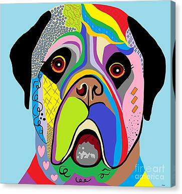 Mastiff Canvas Print by Eloise Schneider