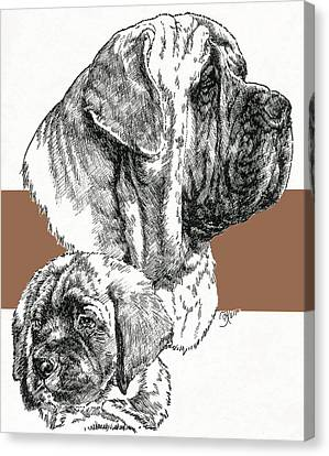 Mastiff Father And Son Canvas Print by Barbara Keith
