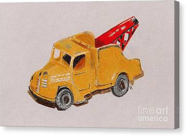 Matchbox Tow Truck Canvas Print by Glenda Zuckerman