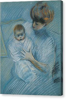 Maternity Canvas Print by Paul Cesar Helleu