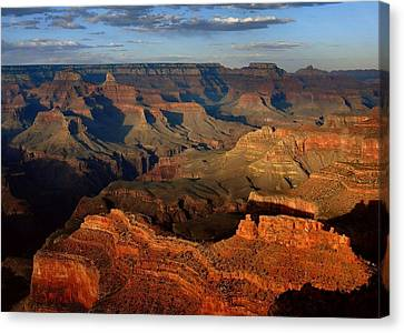 Mather Point - Grand Canyon Canvas Print by Stephen  Vecchiotti