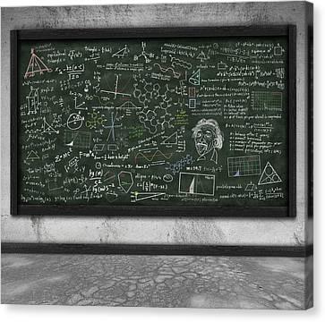 Maths Formula On Chalkboard Canvas Print by Setsiri Silapasuwanchai