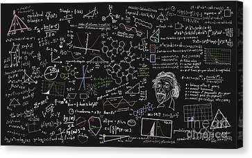 Maths Formula Canvas Print by Setsiri Silapasuwanchai