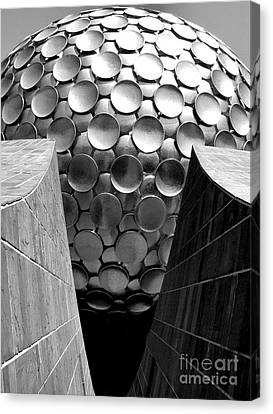 Matrimandir View - Auroville Canvas Print by Steve Rudolph