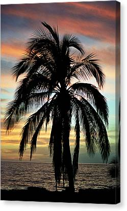 Maui Hawaii Sunset Palm Canvas Print by Pierre Leclerc Photography