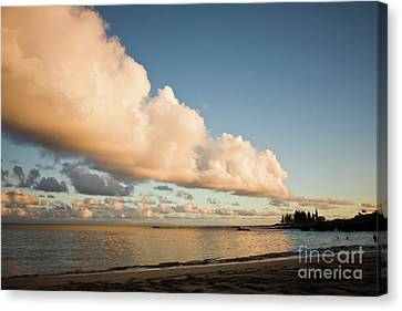 Maui Hawaii Sunset Stunning Clouds Canvas Print by Denis Dore