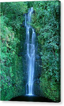 Down East Canvas Print featuring the photograph Maui Waterfall by Bill Brennan - Printscapes