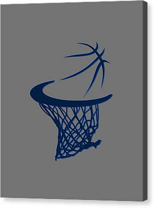 Mavericks Basketball Hoops Canvas Print by Joe Hamilton