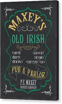 Maxey's Old Irish Pub Canvas Print by Debbie DeWitt