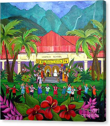 May Day At Hanalei Canvas Print by Jerri Grindle