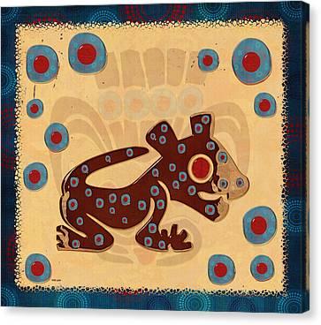 Mayan Baby Jaguar Canvas Print by Sharon and Renee Lozen