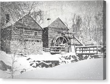 Mccormick's Farm February 2012 Series Vi Canvas Print by Kathy Jennings