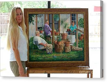 Me And Baron's Estate Canvas Print by AnnaJo Vahle
