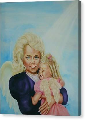 Me And Me Canvas Print by Joni McPherson
