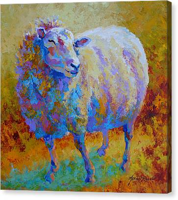 Me Me Me - Sheep Canvas Print by Marion Rose