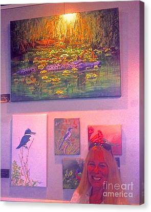 Me With Gator Pod Painting Canvas Print by AnnaJo Vahle