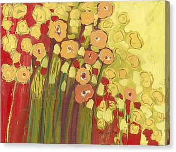 Meadow In Bloom Canvas Print by Jennifer Lommers