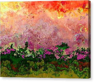 Meadow Morning Canvas Print by Wendy J St Christopher