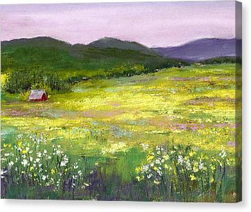 Meadow Of Flowers Canvas Print by David Patterson