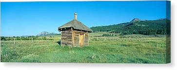 Meat House, Old Dude Ranch, Centennial Canvas Print by Panoramic Images