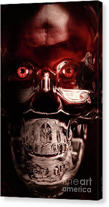 Mech War Machine. Crystalised Robot Skull Canvas Print by Jorgo Photography - Wall Art Gallery
