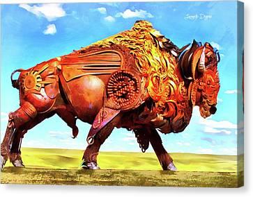 Mechanical Bull Canvas Print by Leonardo Digenio