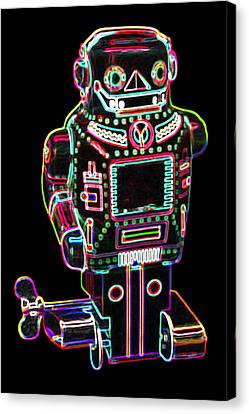 Mechanical Mighty Sparking Robot Canvas Print by DB Artist
