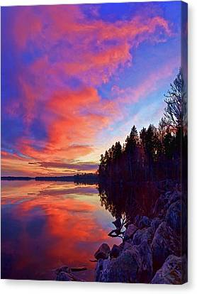Meddybemps Reflections 9 Canvas Print by Bill Caldwell -        ABeautifulSky Photography