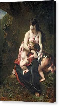 Medea Canvas Print by Ferdinand Victor Eugene Delacroix