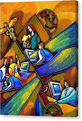 Medicare And Information Technology Canvas Print by Leon Zernitsky