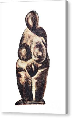 medieval Venus - fertility symbol Canvas Print by Michal Boubin