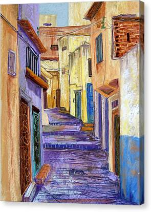 Medina In Tangier Canvas Print by Candy Mayer